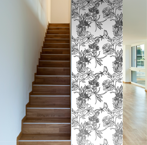 Sketch Flowers Removable Wallpaper