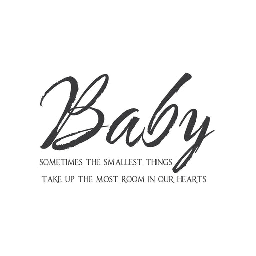"""Baby, Sometimes the Smallest Things"" Mount wall decal!!"