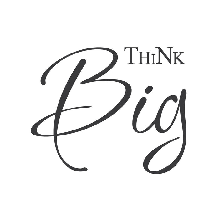 "wall quotes wall decals - ""Think Big."""