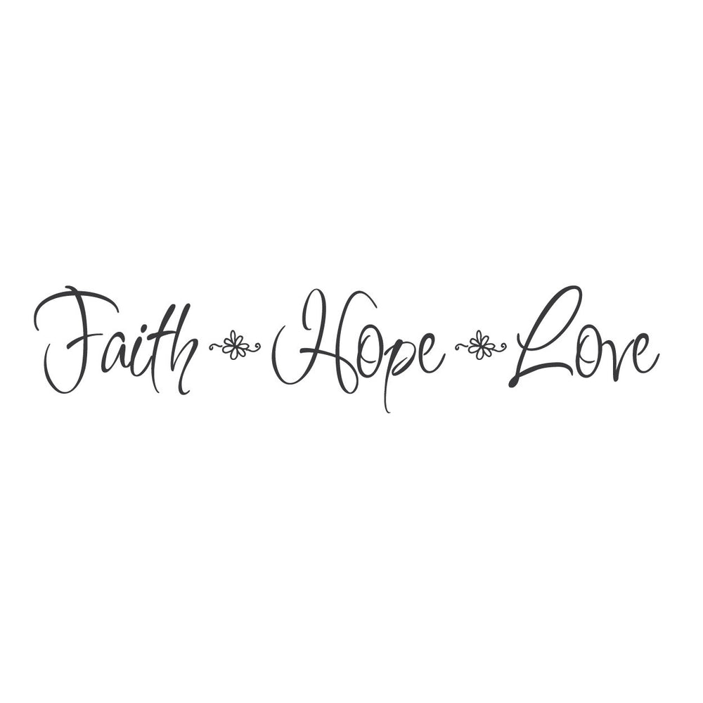 Wall Quotes Wall Decals Quot Faith Hope And Love