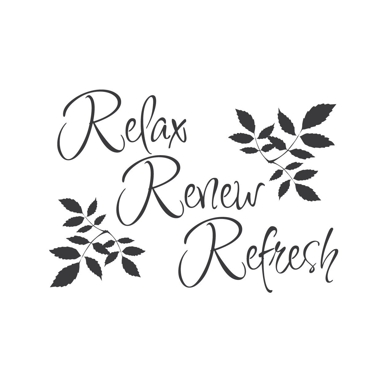 Wall quotes wall decals relax renew refresh for Bathroom quotes svg