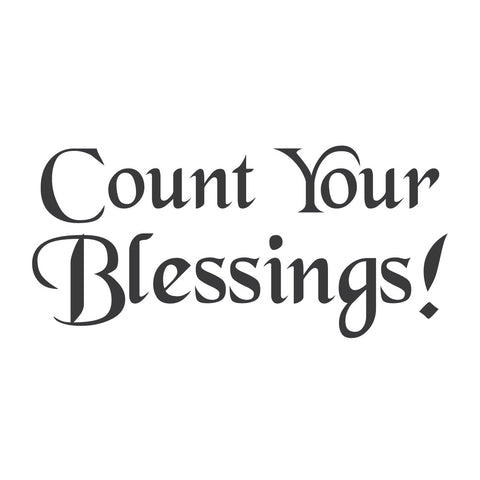 wall quotes wall decals - Count your Blessings