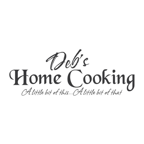 wall quotes wall decals - (Name's) Home Cooking