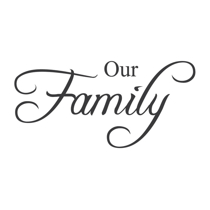 """Our Family"" Mount wall decal"