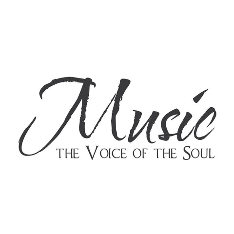 """Music-the voice of the soul"" Mount wall decal"
