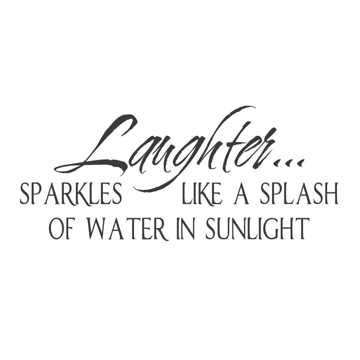 wall quotes wall decals - Laughter
