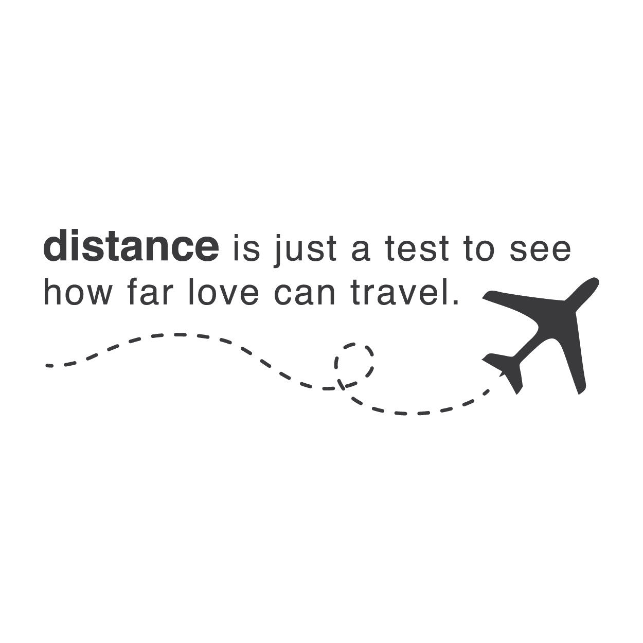 wall quotes wall decals - Long Distance Love