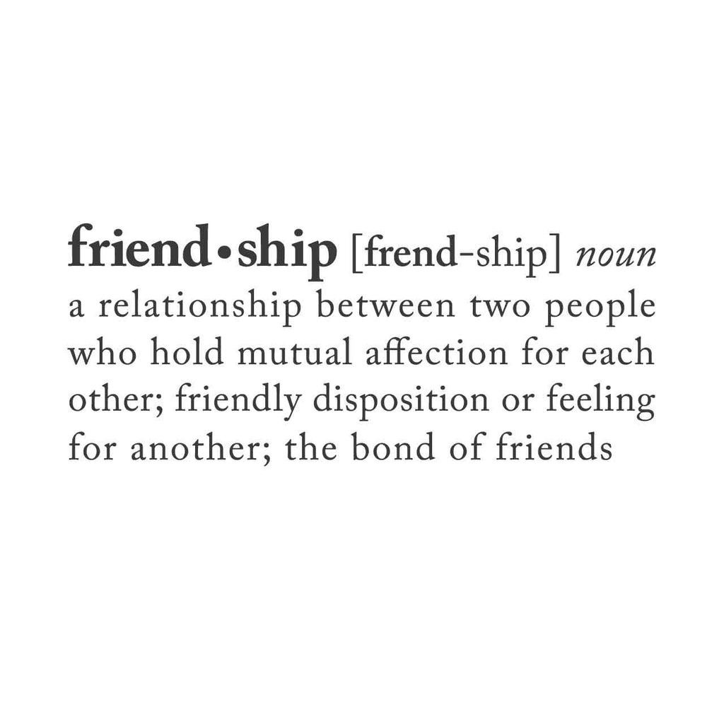 wall quotes wall decals - FRIENDSHIP: A Definition