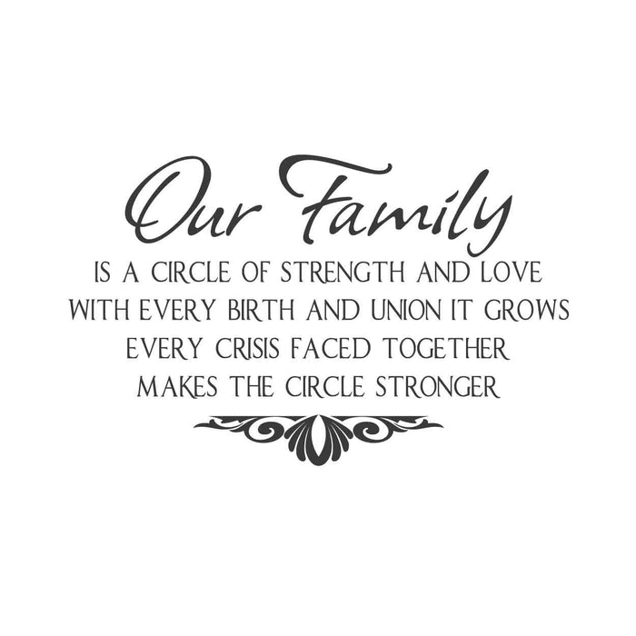 wall quotes wall decals - Our Family...