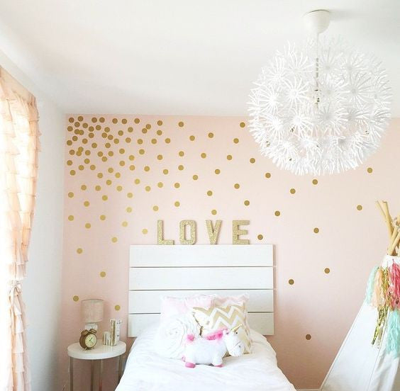 Polka dot wall decals wall decals mini packs walls for Polka dot bedroom designs