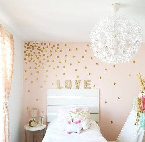 polka dot wall decals wall decals mini packs walls. Black Bedroom Furniture Sets. Home Design Ideas