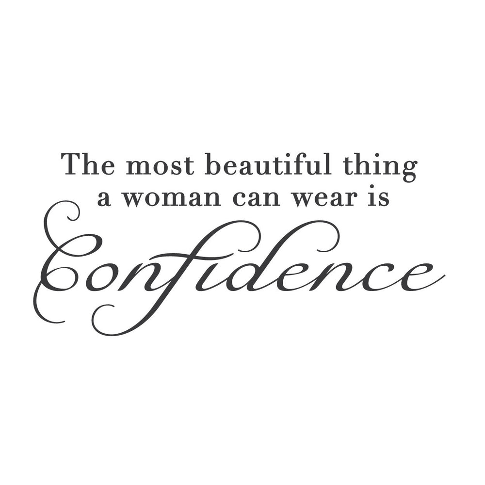 Confident Woman Quotes wall quotes wall decals   Confident Woman Adhesive — WallsNeedLove Confident Woman Quotes