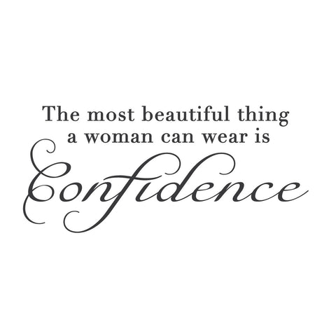wall quotes wall decals - Confident Woman Adhesive