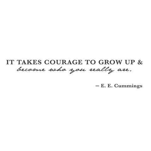 wall quotes wall decals - Courageous Growth