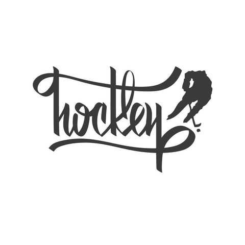 wall quotes wall decals - Hockey Calligraphy