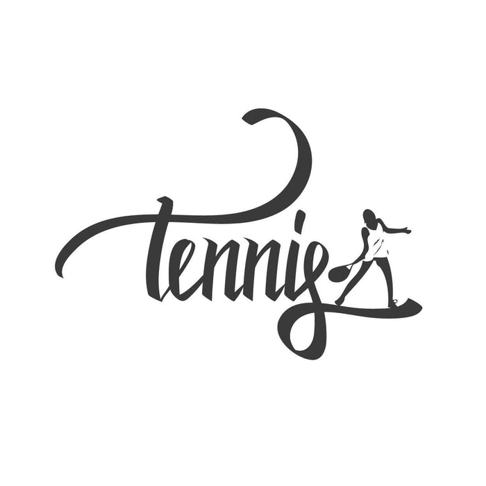 wall quotes wall decals - Tennis Calligraphy