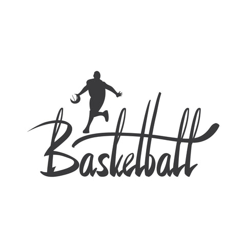 wall quotes wall decals - Basketball Calligraphy