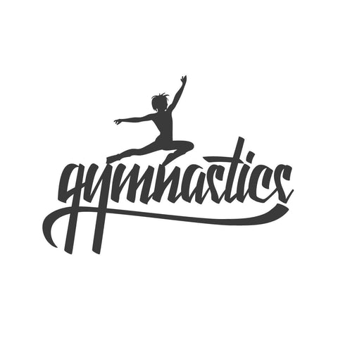 wall quotes wall decals - Gymnastics Calligraphy