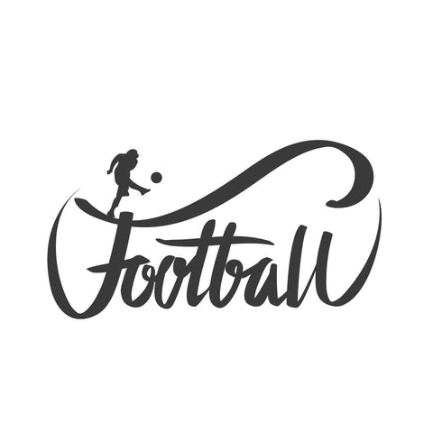 wall quotes wall decals - Football Calligraphy