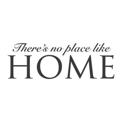 "wall quotes wall decals - ""There's No Place Like Home"" 