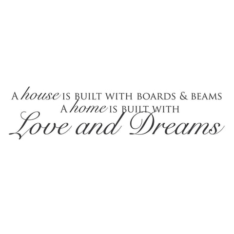 """Love and Dreams"" Mount wall decal!!"