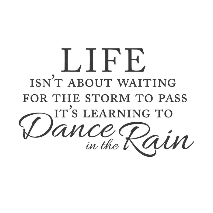 wall quotes wall decals - Waiting For the Storm | lifestyle