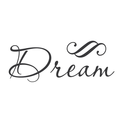 "wall quotes wall decals - ""Dream"""
