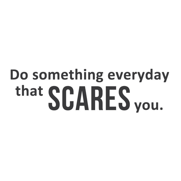 wall quotes wall decals - Something Scary | lifestyle