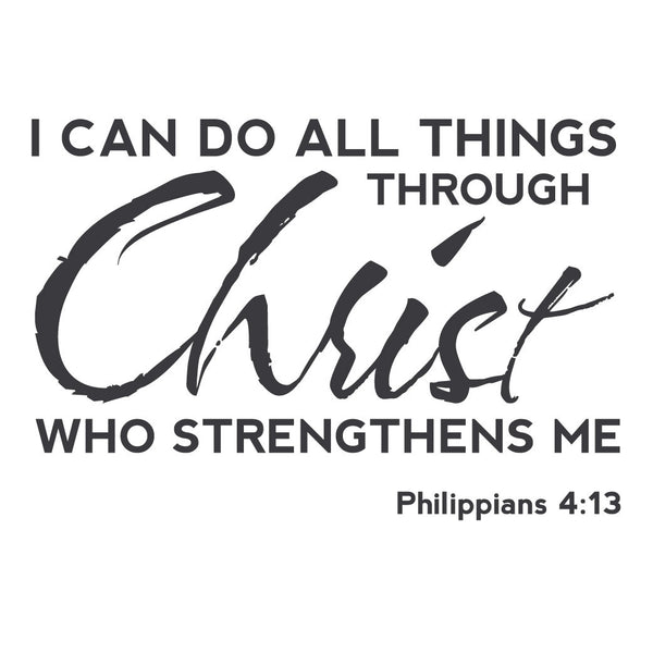 I Can Do All Things Through Christ Wallpaper: Wall Quotes Wall Decals
