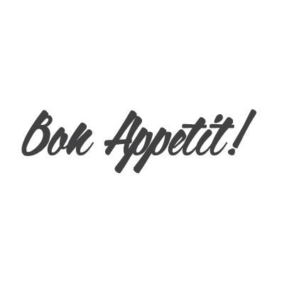 wall quote - Bon Appetit | lifestyle