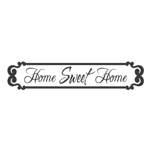 "wall quotes wall decals - ""Home Sweet Home"""