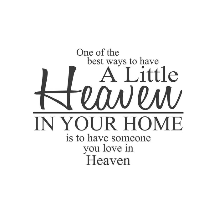 wall quotes wall decals - Heaven in Your Home | lifestyle