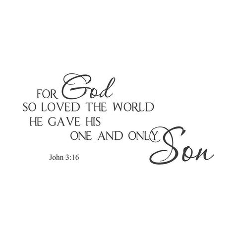 wall quotes wall decals - John 3:16