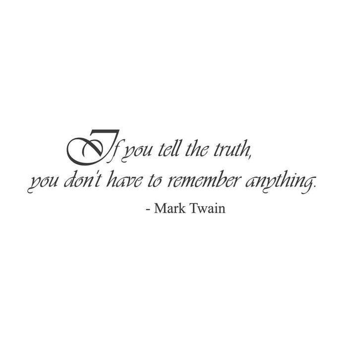 wall quotes wall decals - Mark Twain