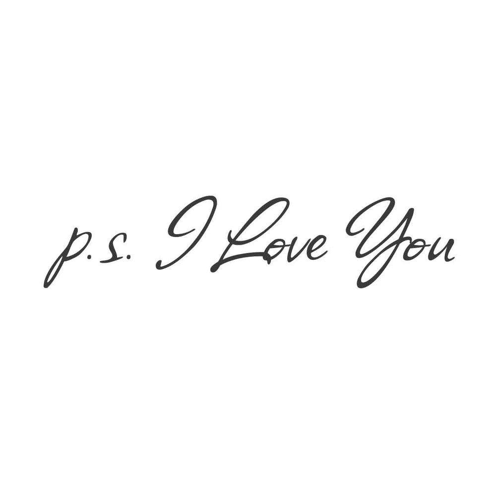 wall quotes wall decals - P S  I Love You Vinyl