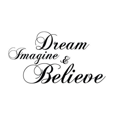 wall quotes wall decals - Dream, Imagine, & Believe | lifestyle