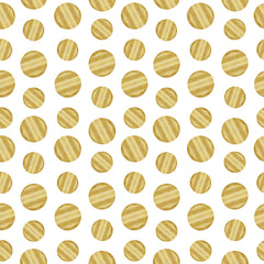 Gold Circles Removable Wallpaper