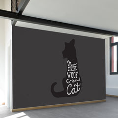 Meow Means Woof Wall Mural