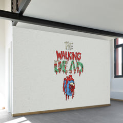 Walking Dead Heart Wall Mural