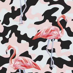 Flamingo Camo Removable Wallpaper