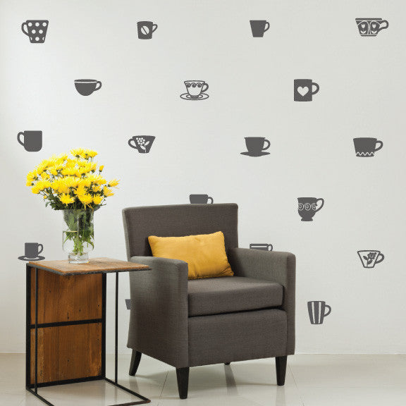 Barista Variety Pack Wall Decals on wall | lifestyle