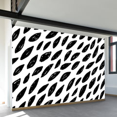 Naturally Black & White Wall Mural