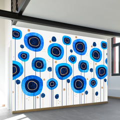 Floral Blues Wall Mural
