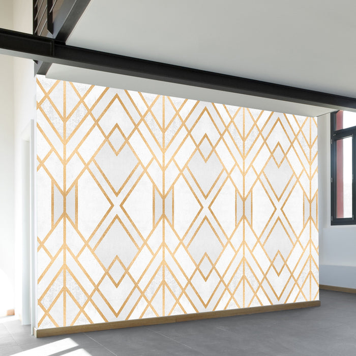 Golden Geo Wall Mural by Walls Need Love?