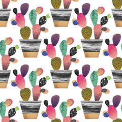 Happy Cactus Removable Wallpaper
