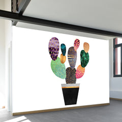 Pretty Cactus Wall Mural