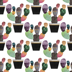 Pretty Cactus Removable Wallpaper