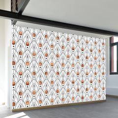 Art Deco Leaves Wall Mural