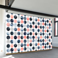 Blue and Pink Dots Wall Mural
