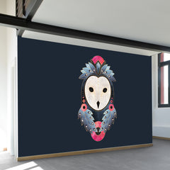 Owl Dark Background Wall Mural